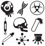 Virus vector icon set