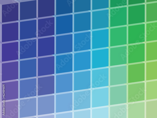 Cold Colored Squares Palette Illustration