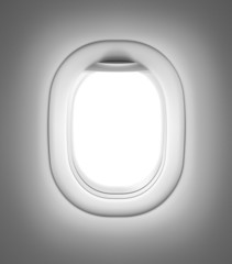 Airplane or jet gray window