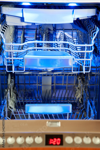inside dishwasher