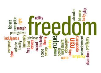 Freedom word cloud