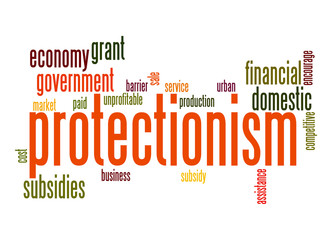 Protectionism word cloud
