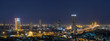 Bangkok cityscape that can see The Bhumibol Bridge at twilight,