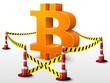 Bitcoin symbol located in restricted area