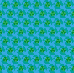 blue seamless triangle abstract pattern