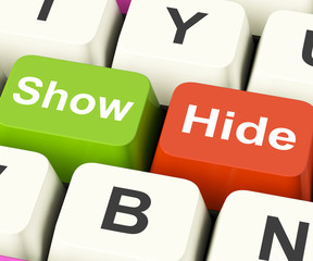 Show Hide Keys Mean On Display And Out Of Sight