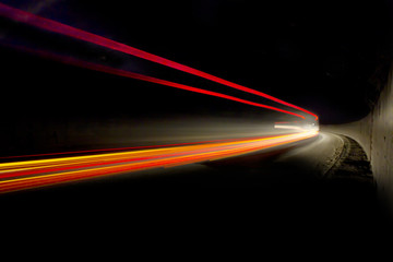 Car ligth trails. Art image