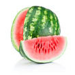 Watermelon and Slice isolated on white background