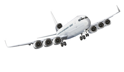 Flugzeug comic, freigestellt