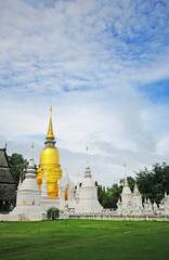 Wat Suan Dok  monastery  in Chiang Mai Thailand