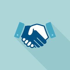 Handshake flat design