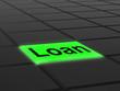 Loan Button Means Lending Or Providing Advance