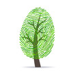 Fingerprint green tree