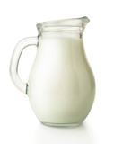 fresh milk in glass jug