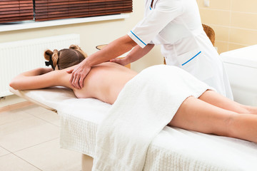 massage in modern beauty salon