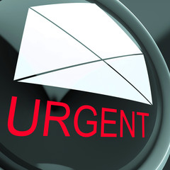 Urgent Envelope Means High Priority Or Very Important Mail