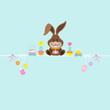 Easter Bunny & Symbols Retro Pastel