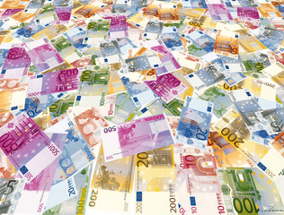 Euro Geldscheine als Geld-Teppich