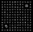 vector black video and audio icons set