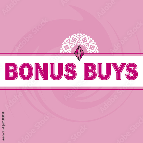 Bonus Buys Logo Pink Background