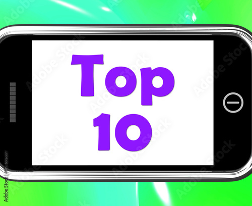 Top Ten On Phone Shows Best Ranking Or Rating