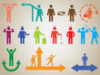 Set of active good and bad human pictogram illustrated