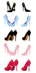 stiletto shoes set