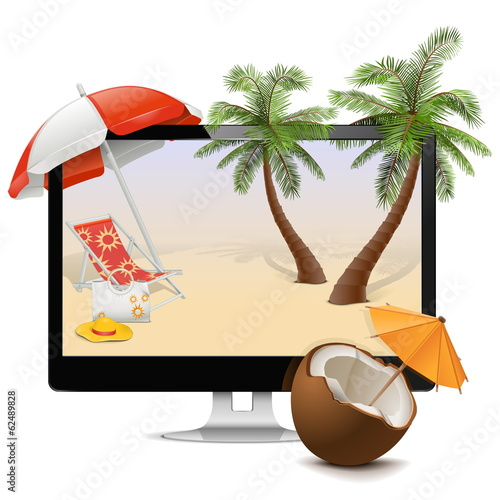 Vector Computer with Tropical Resort