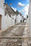 Street in the southern Italian town of Alberobello