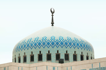 Islamic mosque dome in Amman, Jordan
