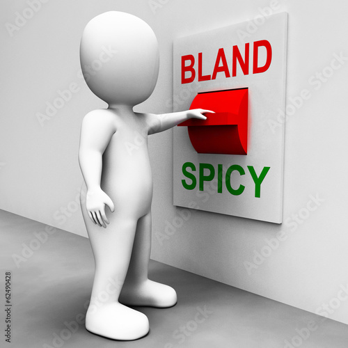 Bland Spicy Switch Shows Plain Hot Cooking Flavours
