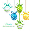 Easter eggs with ribbons. Vector