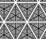 Triangles, Black and White Abstract Seamless Geometric Pattern,