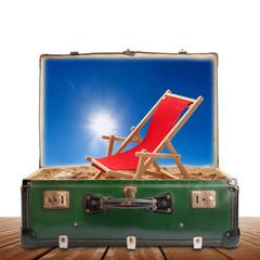 la spiaggia in valigia
