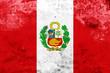 Leinwandbild Motiv Grunge Peru Flag