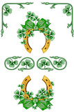 Shamrock Horseshoe Border Set