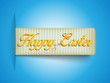 Happy Easter Banner Tag Sticker