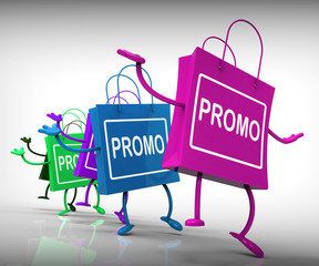 Promo Bags Show Discount Reduction or Sale