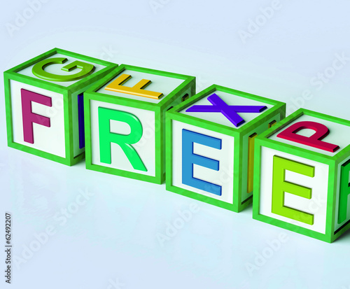 Free Blocks Mean Complimentary And No Charge