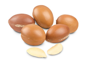 Argan fruit on white