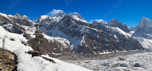 Mt. Everest and Gokyo valley, Solukhumbu Nepal