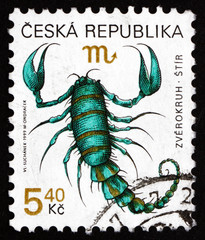 Postage stamp Czechoslovakia 1999 Scorpio, Sign of the Zodiac