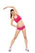 Frau Fitness Dehnen pink