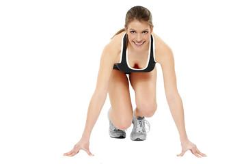 Frau Fitness Start schwarz