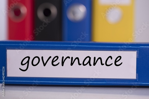 Governance on blue business binder