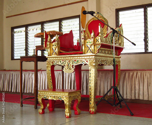 Chair for Thai monk in sermon time