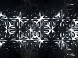Silver metal abstract tile pattern background