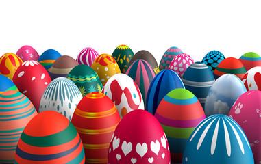 Standing Easter eggs