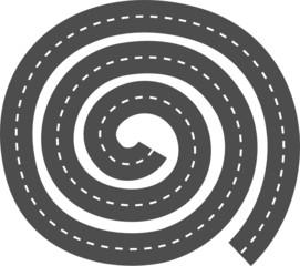 Highway. Round maze