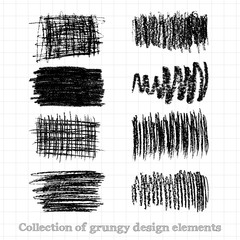 Collections of grunge design elements